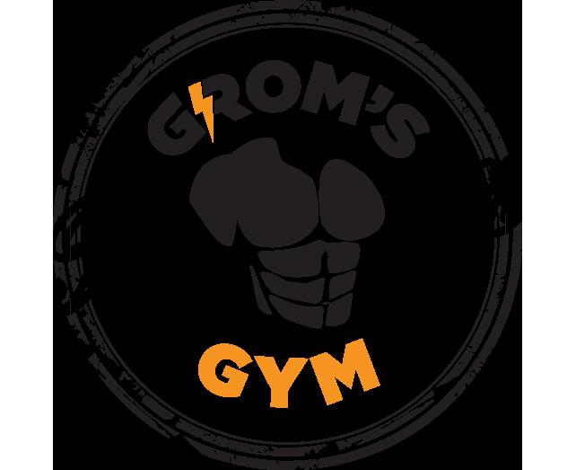 Grom's Gym logo okrogel